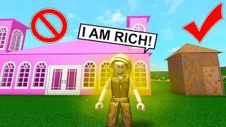 She Pretended To Have A Huge Castle But Secretly Was Homeless... (Roblox)