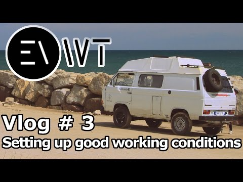 VLOG 3 SETTING UP GOOD WORKING CONDITIONS For Electric Van Conversion Project