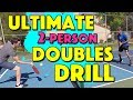 Ultimate 2-Person Pickleball Doubles Drill   How to work on your doubles game with only 2 people