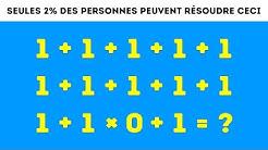 9 énigmes Mathématiques Qui Vont Rendre Perplexe Même Tes Amis Les Plus Intelligents