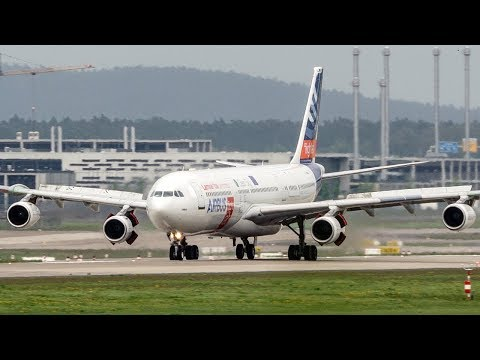 AIRBUS A340 BLADE LANDING - The Future of the Airbus 340? - ILA 2018 (4K)
