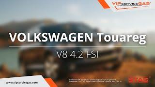 Обзор ГБО на Volkswagen Touareg V8 4.2 FSI -  ГБО STAG (ГАЗ на Вольксваген Туарег) VIPserviceGAS