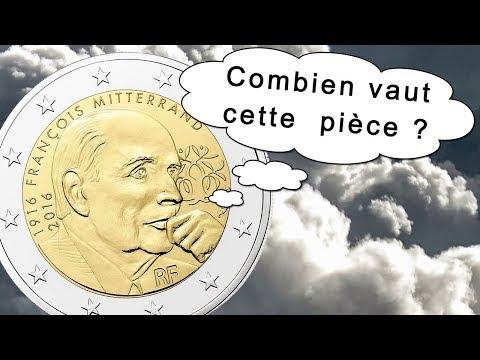 Valeur pièce 2 euro François Mitterrand