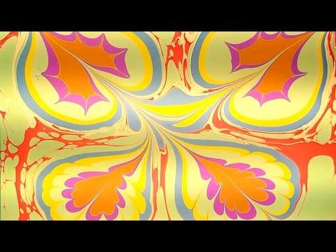EBRU PAINTING Water Marbling Progressive Art | Ebru paint made CAPITELLO art paints factory