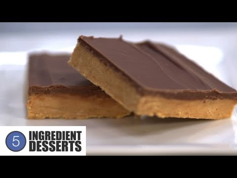 Download Youtube: Chocolate Peanut Butter Slice | 5 Ingredient Desserts