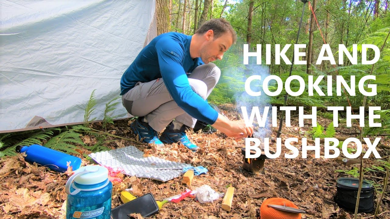 Hiking, Setting up a Tarp and Cooking with the Bushbox I Hiking in the Hot Weather