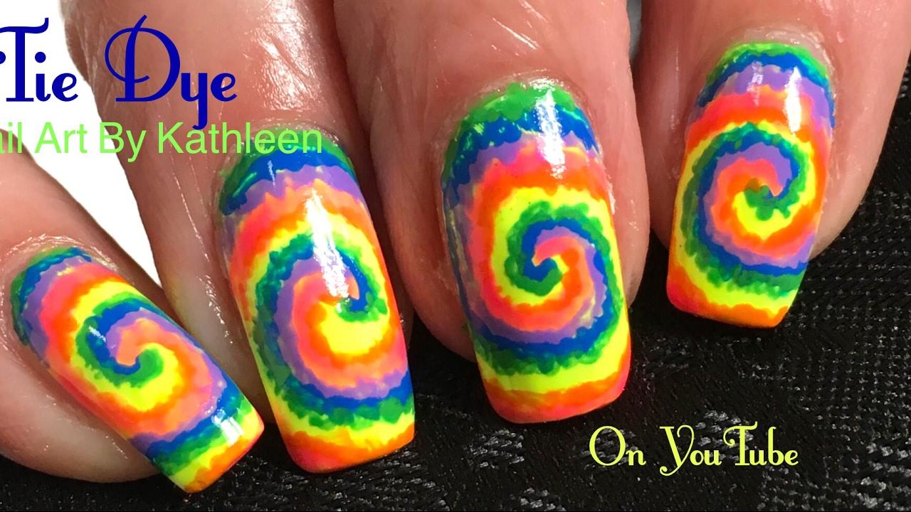 Tie Dye Nail Art Tutorial Youtube