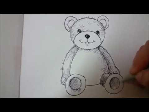 How To Draw Cartoon Bear - Cute Teddy Bear
