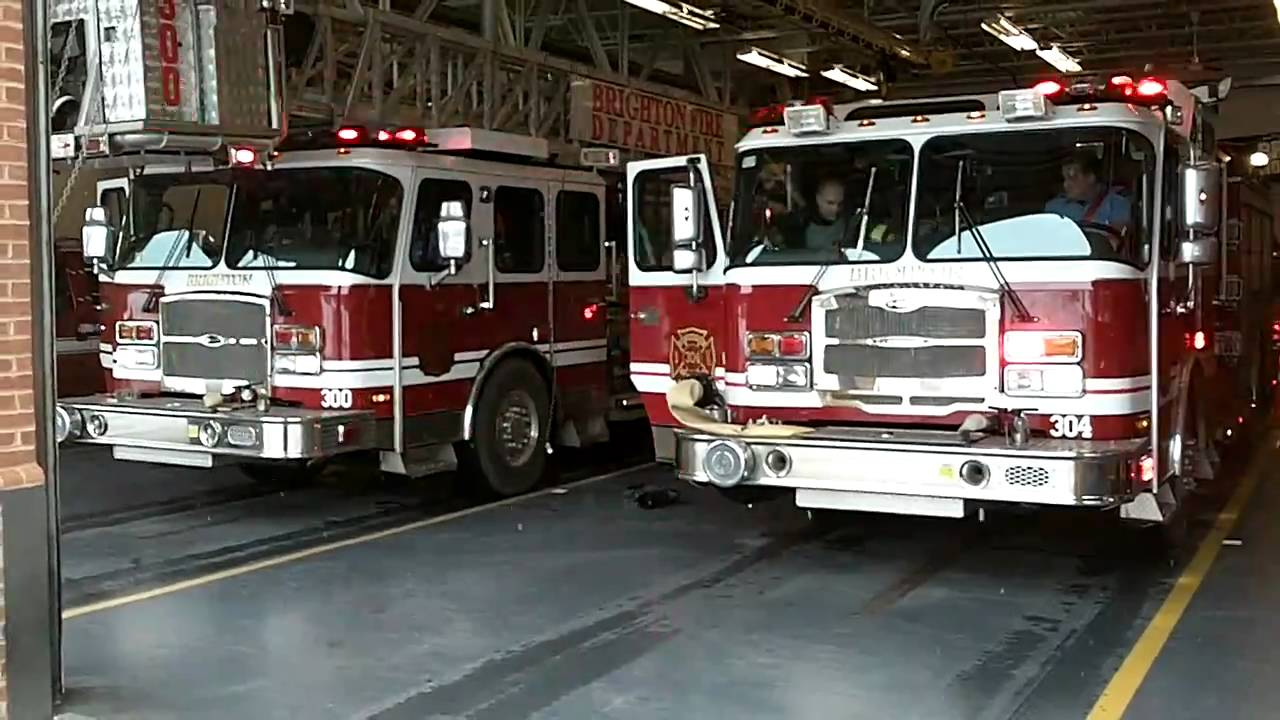 Brighton NY Station 1 Responding For A Vehicle Fire On Rt