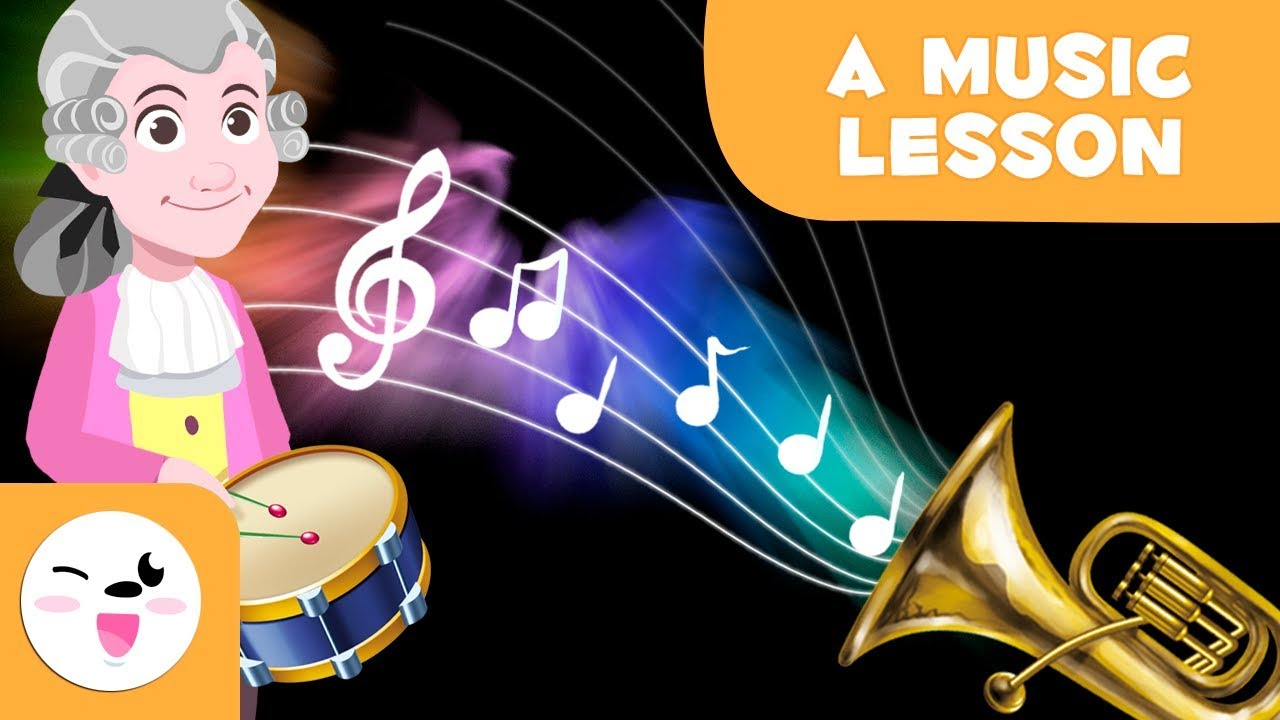 A Music Lesson Instruments And Musical Figures For Kids Youtube