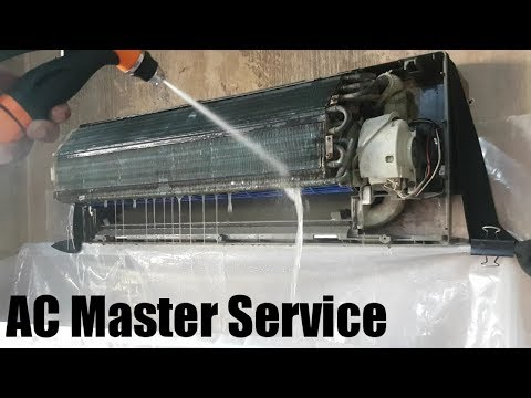 Air conditioner master service | AC Pressure wash full clean