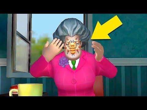 ПРАНК С ПАУКОМ Прохождение игры Scary Teacher 3D уровень найти паука