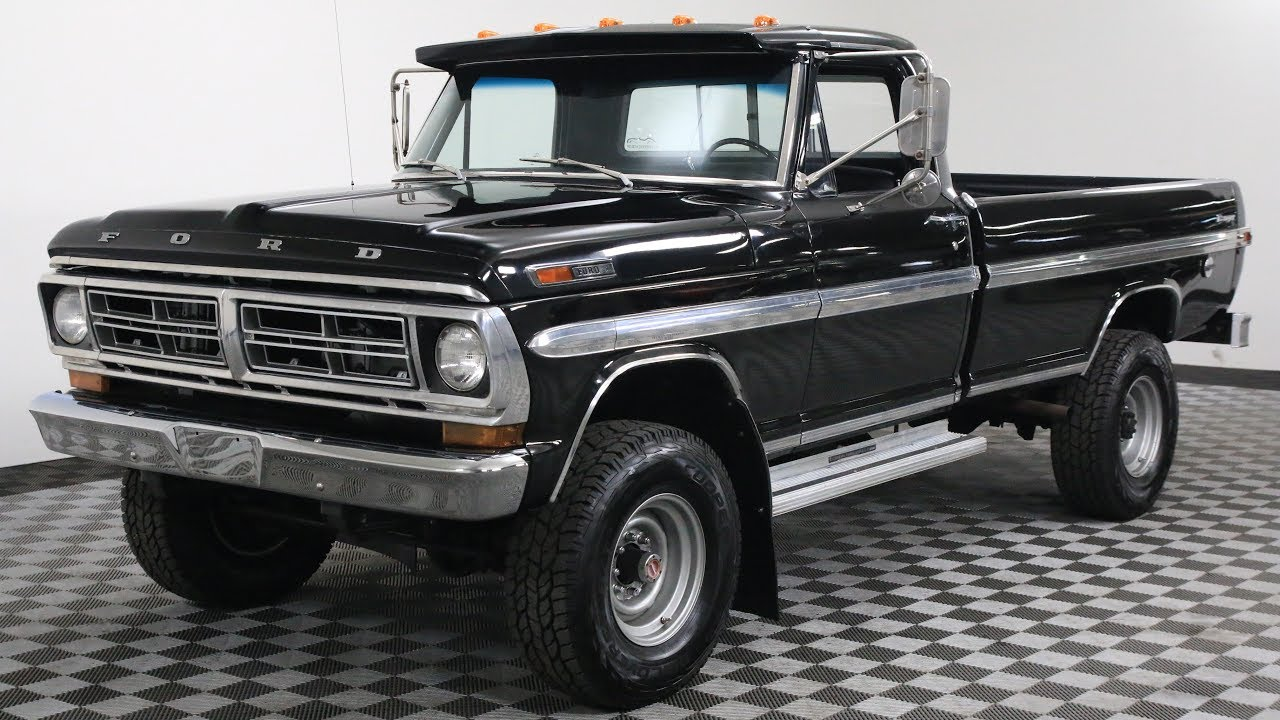 1972 FORD F-250 BLACK - YouTube