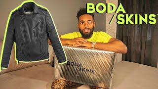 Best Motorcycle Leather Jacket ? | Boda Skins Unboxing & Review