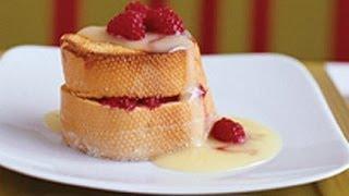 Raspberry Stuffed French Toast With Custard Sauce