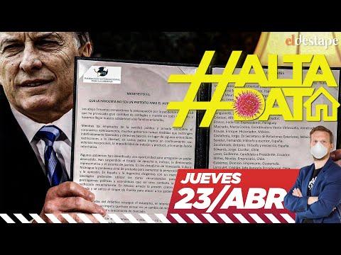 Alta Data   Coronavirus: el documento que firmó Macri contra el populismo
