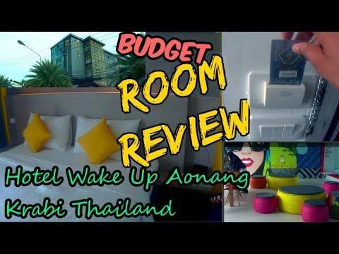 Hotel Wake Up Aonang Krabi Thailand    Budget Room Review