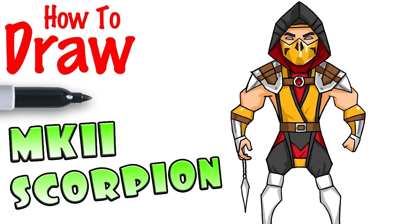 How To Draw Scorpion Mortal Kombat 11 Youtube