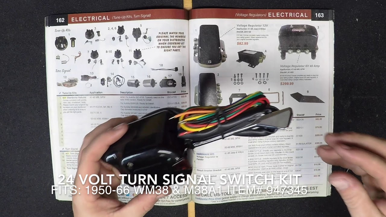 willy jeep turn signal wiring diagram [ 1280 x 720 Pixel ]