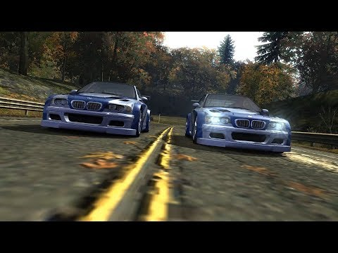 Nameless Driver's BMW M3 GTR Vs Razor's BMW M3 GTR [NFS Most Wanted 2005]