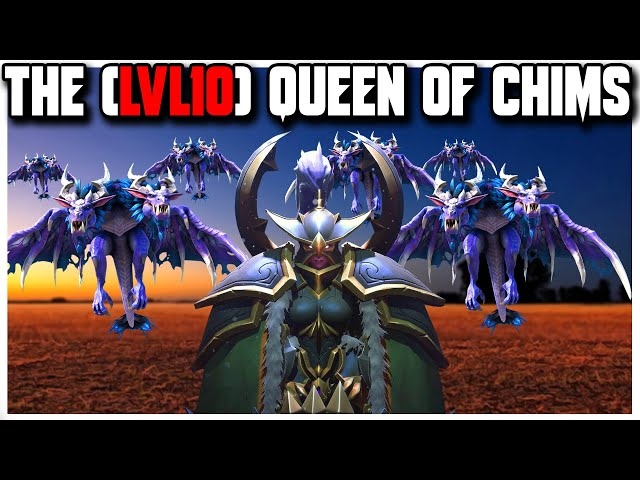 Grubby | WC3 4v4 | The (LVL10) QUEEN of CHIMS!