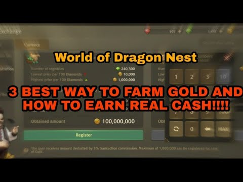 WODN: HOW TO FARM GOLD TO REAL CASH!
