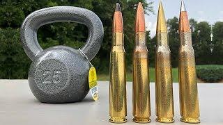 50 BMG vs Kettlebell