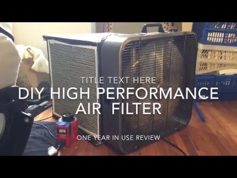 DIY box fan air filter purifier, high performance, one year review