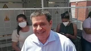 Horacio Cartes llega a inauguración de UTI en Paraguarí