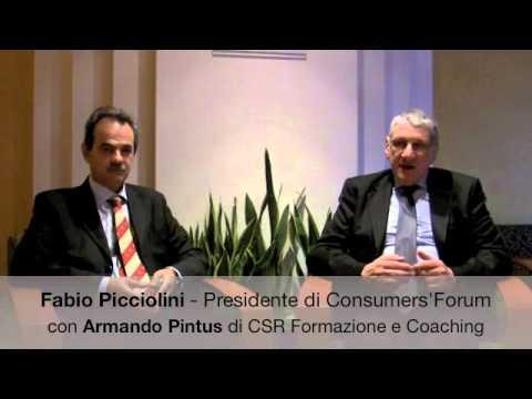 Fabio Picciolini di Consumers'Forum con Armando Pintus
