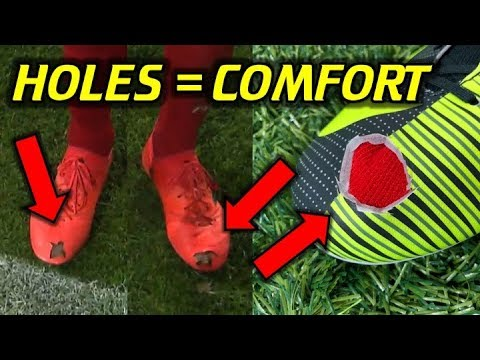 FIRST COUTINHO, NOW HUMMELS!  Why Do Pros Cut Holes In Their Boots?  Does It Work? TEST