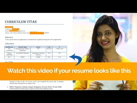 Fresher Resume Making Tips - Correct Your Resume Here | Real-Time Comparison
