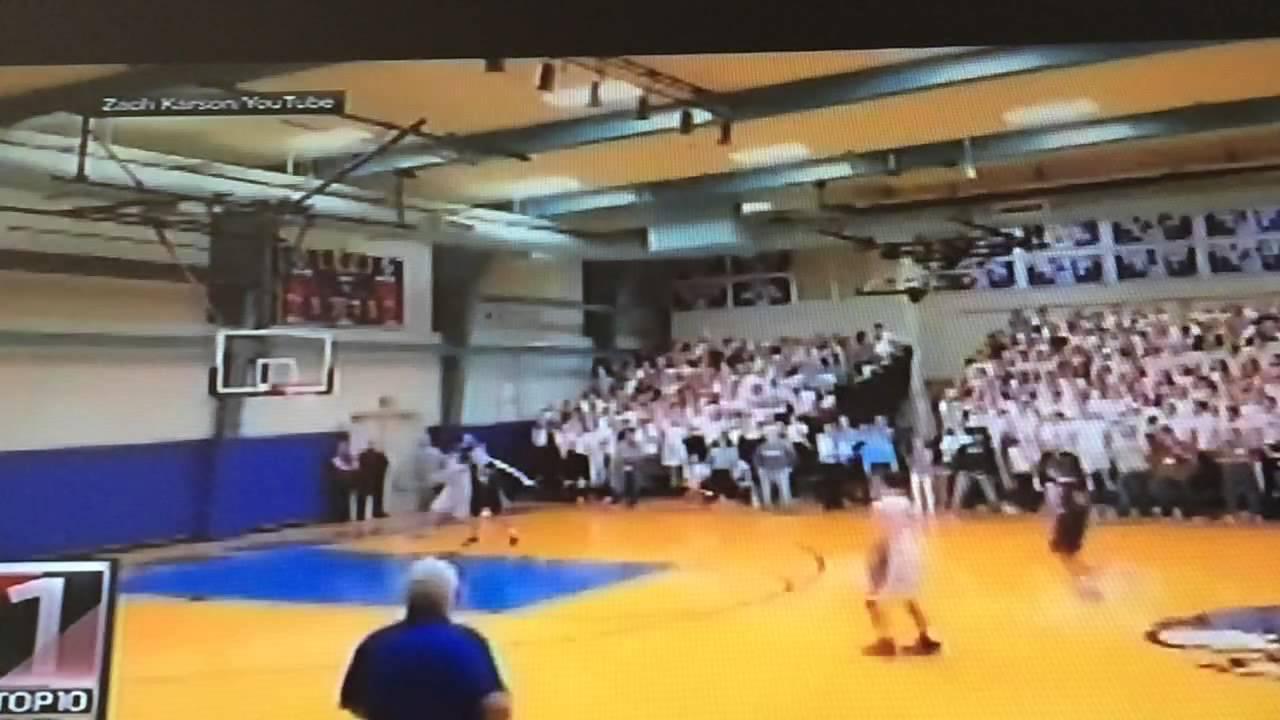 High school basketball half court buzzer beater shot youtube