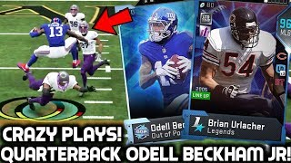 ODELL BECKHAM JR PLAYS QUARTERBACK! MY BEST PULL! Madden 19 Ultimate Team