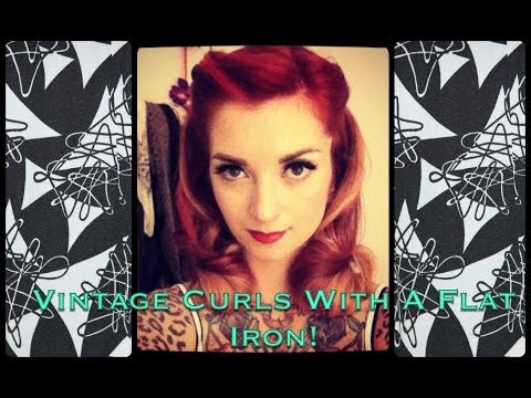 Easy 1940s Notebook Style Vintage Curls Using Flat Iron By Cherry Dollface