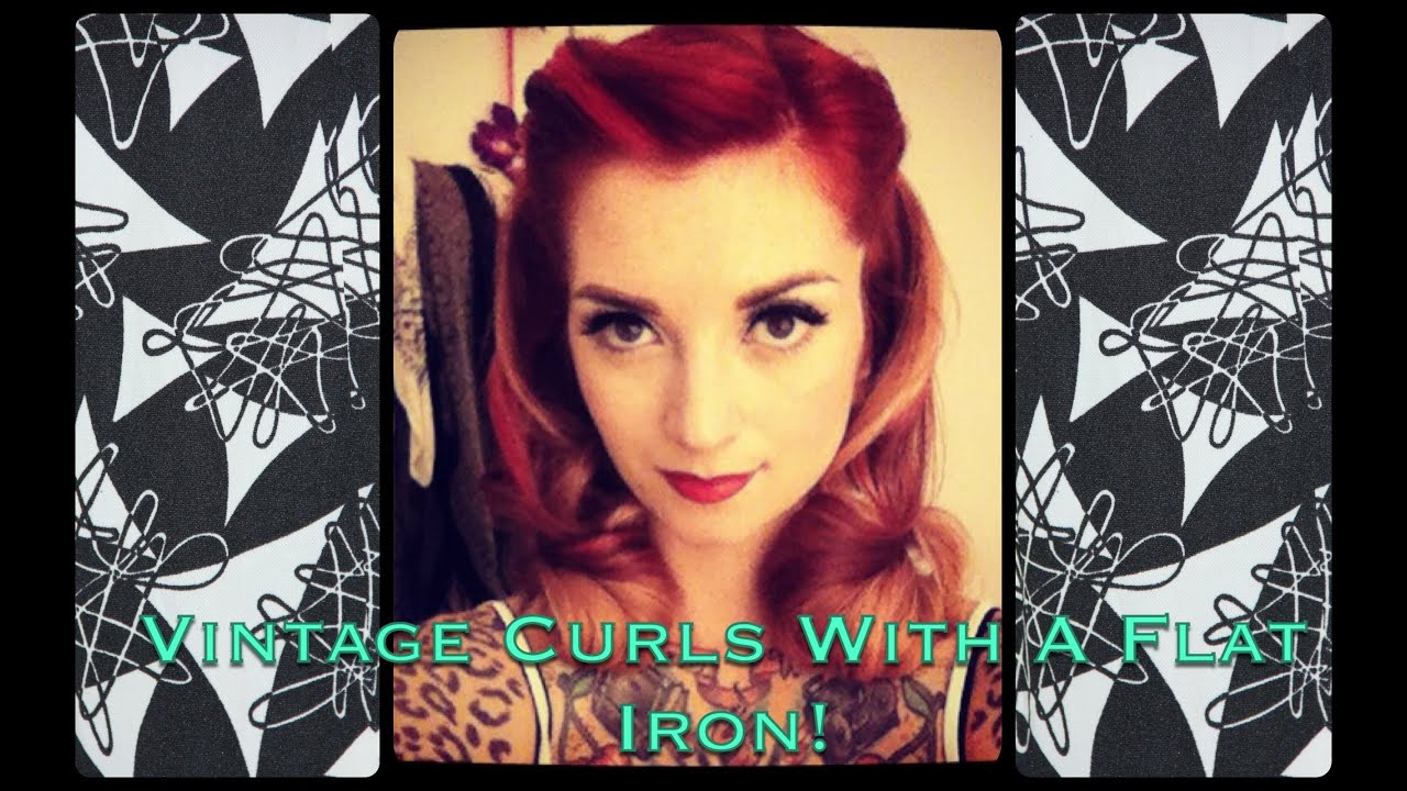 how to curl your hair 50s style easy 1940 s notebook style vintage curls using a flat iron 3135