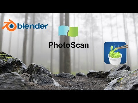 Blender2 79 photoscan Instant mesh create lowpoly assets with photogrammetry 2