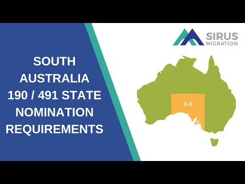 SOUTH AUSTRALIA 190 / 491 STATE NOMINATION REQUIREMENTS