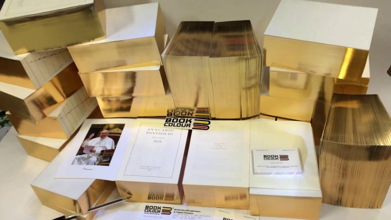 Colour book edges - Colour Book Edges Gilding Book Edges Papal Yearbook Gold Labbratura 2016
