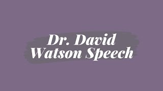 Dr. David Watson on One Church UMC