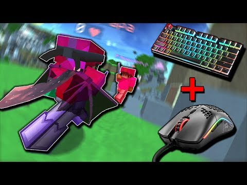 I Got The GLORIOUS MODEL O & GLORIOUS GMMK! (Handcam) Hypixel Bedwars
