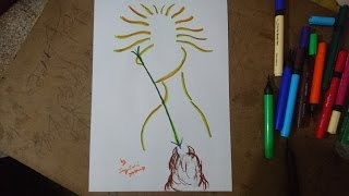 How To Draw Durga Devi