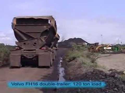Road train mining 220t FH16 Borneo