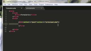 CURSO DE PHP 08   FORMULARIOS DE TRABAJO   Caja de texto y boton