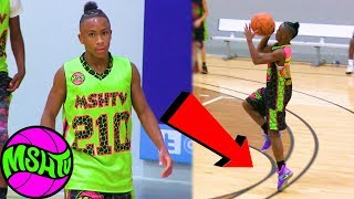 5'7 Jalen Collins SHOOTS 3 POINT FLOATERS!!!  Freshman has HANDLES & VISION at 2018 MSHTV Camp