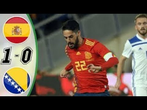 SPAIN 1 VS 0 BOSNIA HERZEGOVINA HD HIGHLIGHT,GOALS,18/11/2018