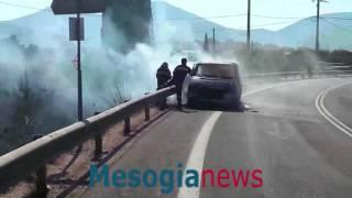 Πυρκαγιά στο Κορωπί από διερχόμενο όχημα