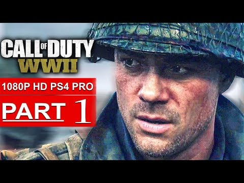CALL OF DUTY WW2 Gameplay Walkthrough Part 1 Campaign [1080p HD PS4 PRO] - No Commentary