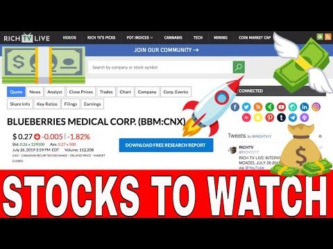 Stock To WATCH:  Blueberries Medical Corp. (CSE:BBM)(OTCQB:BBRRF)