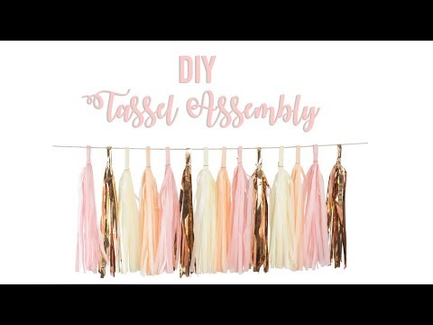 DIY Tassel Assembly Instructions